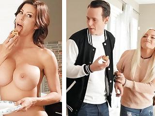 Boyfriend fucked GF's mummy with huge boobs