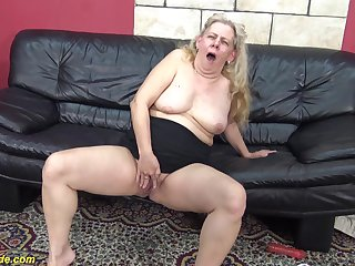 71 adulthood old chubby granny enjoys will not hear of primary rough big menacing cock interracial making love