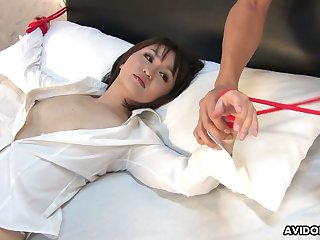 Asian milf Runa Kanzaki gets her pussy slammed with the addition of creampied