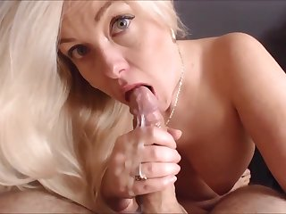 Blonde MILF Auntie is the Best When Giving Freak