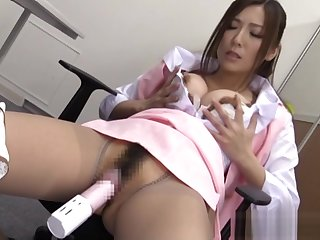 Yuna Shiina is a powered assignment daughter enjoying masturbation