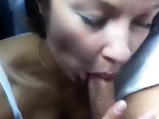 hot amateur milf giving blowjob and getting fucked