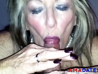 Old British Prostitute Blowjob 2