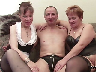 Two German Granny in Porn Doff expel with Stranger Grandpa