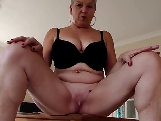 Off colour granny with heavy tits and hungry cunt
