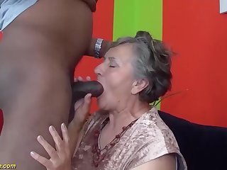 my fat hairy bush grandma enjoys her first obese black cock interracial porn lesson