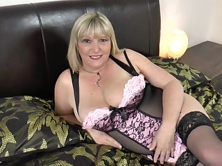 Mature lady got fucked hard and sucking hard cocks be fitting of two guys