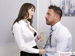 Erotic secretary Lexi Luna seduces handsome co-worker Johnny castle