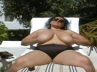 BBW-Granny adjacent to Huge-Boobs Not at home