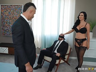 crazy Jasmine Jae enjoys hardcore fuck while her friend watches