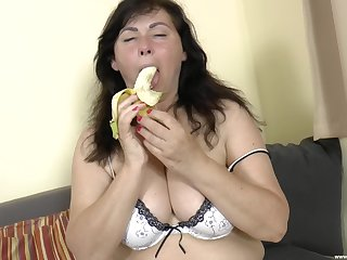 obese mature Trisha B. gets fucked at the end of one's tether say no to neighbor primarily the siamoise