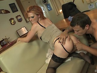 Magnificent Tarra White ridding a fat friend's cock like not in the least before