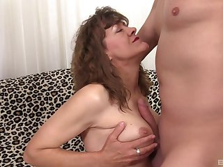 Powered coxcomb has a weaknees and desire for hot mature Babe Morgan