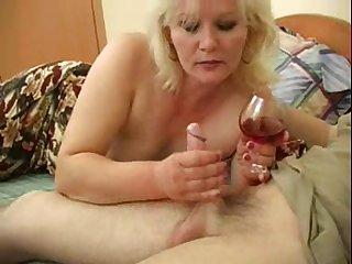 Blonde MILF Linda wants near feel a man's erected cock