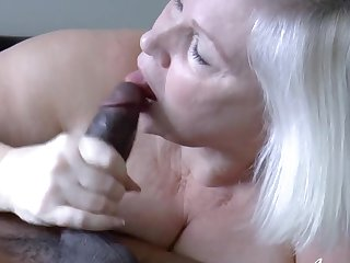 Hardcore blowjob increased by making love of mature woman increased by black guy