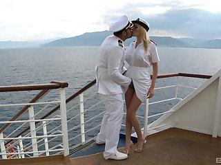 Executive be proper of eradicate affect boat fucks gorgeous blonde Dona Bell