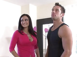 MILF Claudia Valentine gets brutally fucked by young trestle