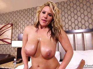 natural big tits MILF has POV sex give hotel room