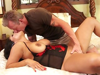 Eating her milf ass with an increment of pussy before they fuck