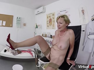 big boob hairy bush grandma gets rough pov fingered increased by fucked by her doctor
