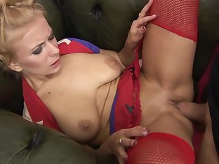Affectionate cougars deliver passionate blowjobs before getting pounded hard