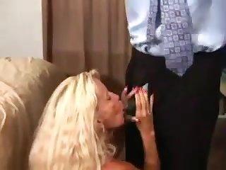 Very Hot Large-Bosomed Blond Hair Girl Granny Bangs BIG BLACK DICK