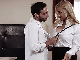Sensual blowjob is definitely guaranteed by sexy order about babe Sarah Vandella