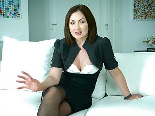 Amazing marketable interview with flirty sexy porn actress Yasmin Scott
