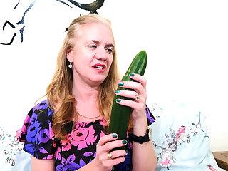 My granny buys a cucumber be advantageous to masturbation