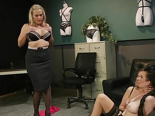 Liberality matures in scenes be advisable for rough femdom before office