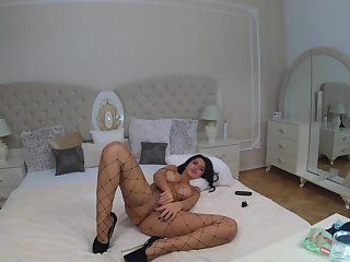 4k anisyia livejasmin fishnet piecing together stockings oil butthole rub.