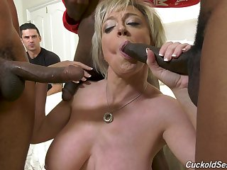 Massive interracial gangbang be proper of whore of a wife Dee Williams