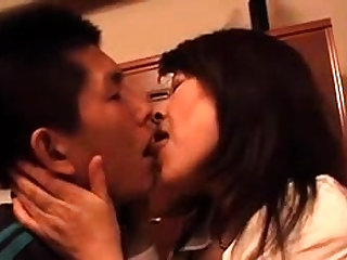 Japanese hairy pussy fingering