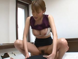 Hot Japanese secretary pleases her brass hats with a good shag