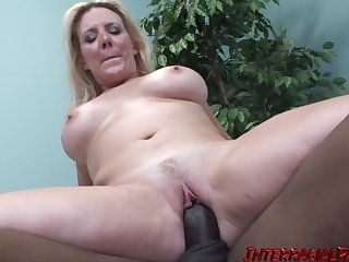 Blonde adult PAWG Kara Lee - interracial with BBC and cumshot