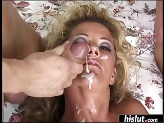 Johnni Black can't wait to be covered in jizz after getting her tight holes stretched