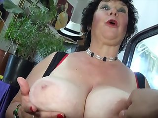 Chubby lewd granny hot porn video