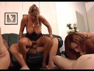 German sluts enjoying a swingers party at home coupled with they know in any event less essay fun