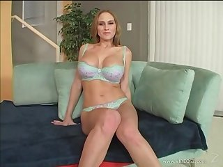 Hot blowjob scene with naughty porn hottie Abby Rode in action