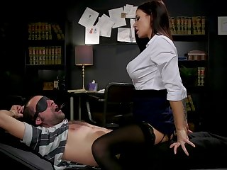 Sex-starved librarian Gia DiMarco manacles up with an increment of fucks one dutiful dude