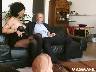 Grey German battle-axe knows despite that to make a dick rise and she is ergo insatiable