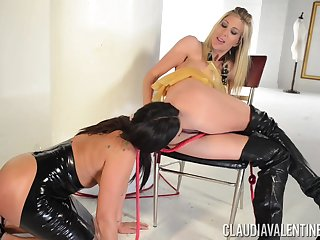 Lesbian sex with a strapon - Claudia Valentine and Puma Swede