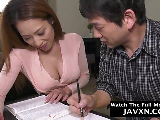 Perfect Japanese Mommy Together with Stepson Studyi - HD video
