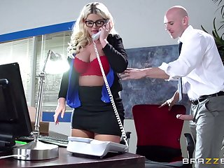 Brass hat lady Julie Cash fucked in the office by her male assistant