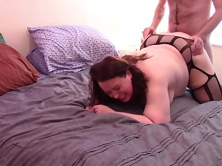 Blistering Andie Gets Pounded in Fishnets