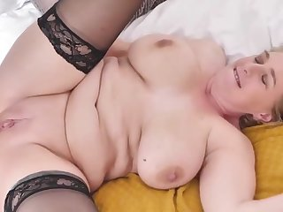 of age busty old lady tries chunky black cock - PureSexMatchcom