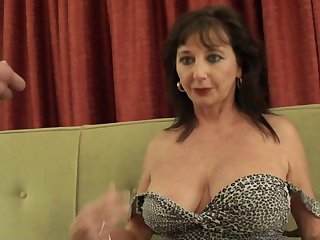 Horny mature slut Rebecca1 pokes will not hear of cunt with a dildo and gets fucked