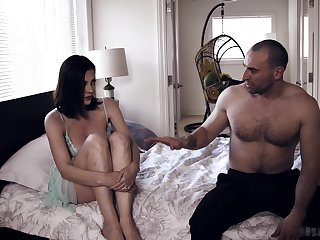 Lethargic housewife Sovereign Syre is waken up with boner cock penetrating her twat