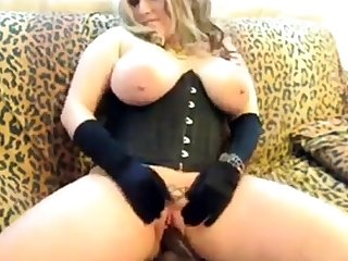 A Primer - Chubby pretty good saggy tits corset black dildo fuck