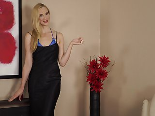 Svelte Ariel looks surprising close to her new lacy lingerie painless she poses